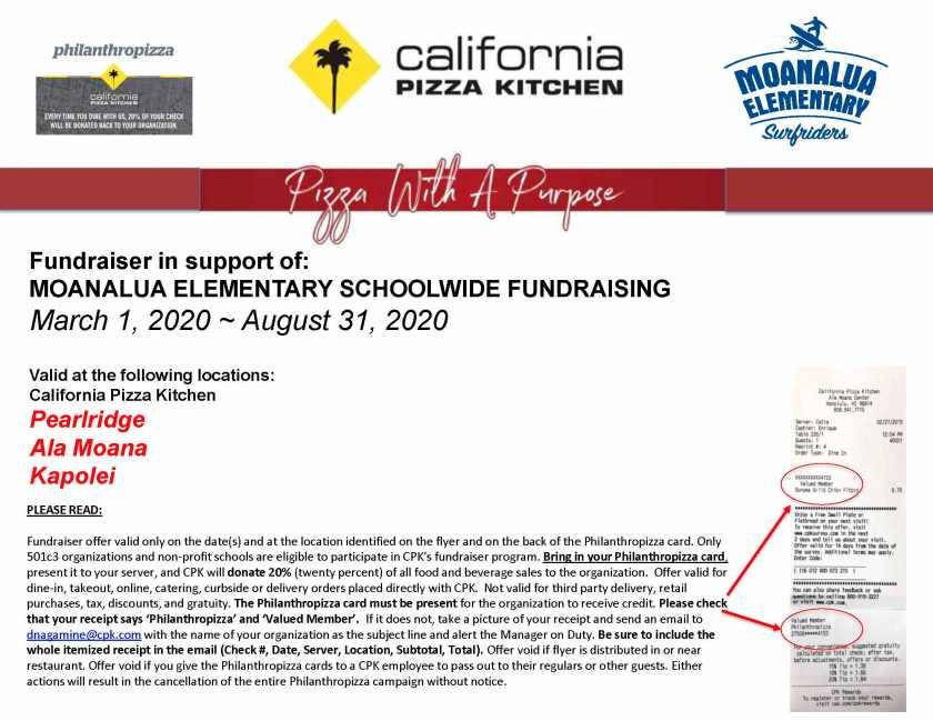 Philanthropizza Fundraiser Mar 1 - Aug 31, 2020