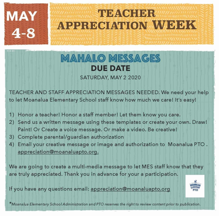 Teacher Appreciation Messages Flyer